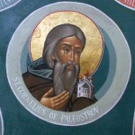 St Cornelius of Paleostrov -- wall-painting in lower church by Vitaly Borisov